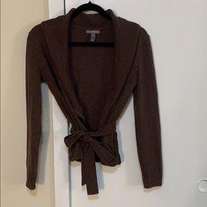 Apt. 9 brown long sleeve cardigan